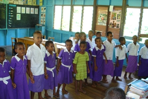 Visiting a school in a different culture can be great fun – here in a small village in the Yasava Islands, Fiji