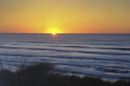 We saw this fantastic sunset at the beach in Newport, Oregon, USA